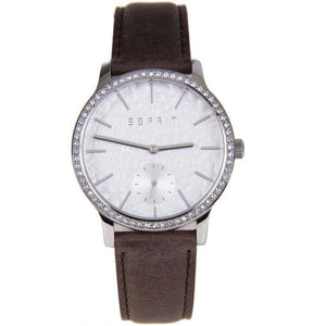 Esprit Women's Analogue ES108112001 Brown Leather Strap Watch