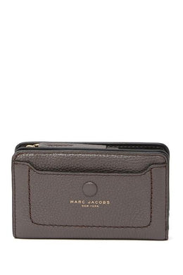 Marc Jacobs Empire City M0013051 Compact Leather Wallet In Ash