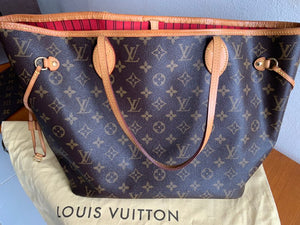 Preloved Louis Vuitton Mono Neverfull MM Totebag