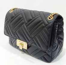 Load image into Gallery viewer, Michael Kors Peyton Large Shoulder Flap 35S0GP6F3U In Black