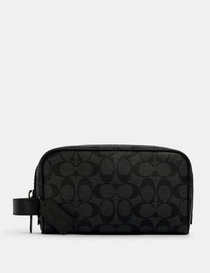 Coach Small Signature Travel Kit 2515 Bag In Charcoal