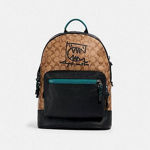 Coach Signature West 2523 Backpack With Rexy By Guang Yu