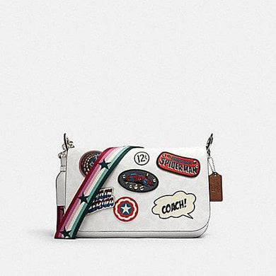 Coach X Marvel Jes 2537 Messenger Crossbody Bag In White Multi