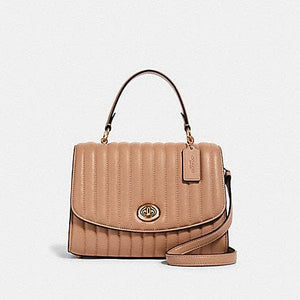 Coach Tilly Top Handle 2562 Satchel Bag In Taupe