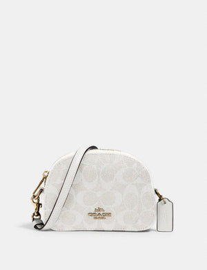 Coach Mini Serena Crossbody In Signature Canvas 2628 (IM/Chalk/Glacierwhite)
