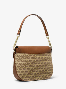 Michael Kors Medium Evie 30T9LZUF2J Flap Shoulder Bag In Beige Ebony