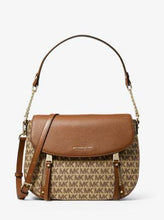 Load image into Gallery viewer, Michael Kors Medium Evie 30T9LZUF2J Flap Shoulder Bag In Beige Ebony