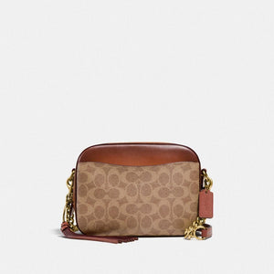Coach Signature Camera Crossbody Bag 31208 In Tan Rust
