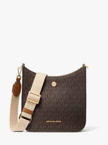 Michael Kors Small Briley 35S1G7BM1B Monogram Messenger Bag In Brown Acorn