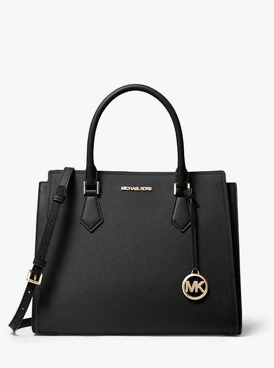 Michael Kors Large Hope 35T0GWXS3L Satchel Bag In Black