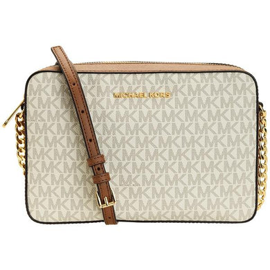 Michael Kors Jet Set Travel 35F8GTTC3B Item Large EW Crossbody In Vanilla
