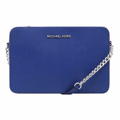 Michael Kors Large EW 35F8STTC9L Jet Set Travel Crossbody Bag In Cobalt