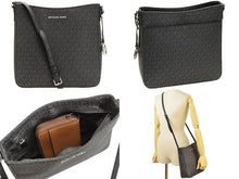 Load image into Gallery viewer, Michael Kors Large Messenger 35F8STVM7B Jet Set Travel Crossbody Bag In Black