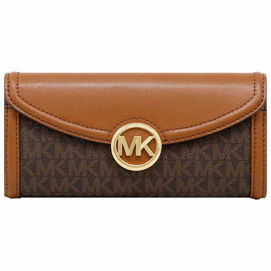 Michael Kors Fulton Large Flap Continental Wallet 35F9GFTE3B In Brown Acorn