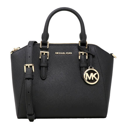 Michael Kors Ciara Medium Messenger 35S8GC6M2L In Black With Gold Hardware