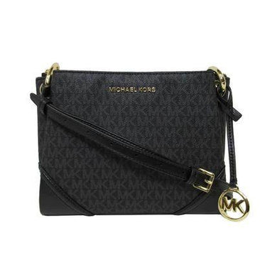 Michael Kors Large Nicole 35H9SNIC9B Triple Compartment Crossbody Bag In Black