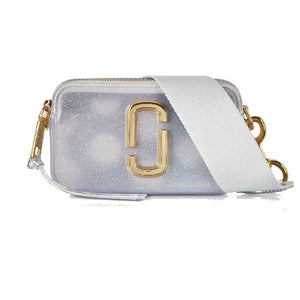 Marc Jacobs The Jelly Snapshot M001483 Glitter Crossbody Bag In Silver Multi