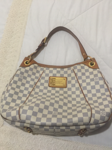 (PRELOVED) Louis Vuitton Handbag/LV#FL4068 GALLIERA DAMIER AZUR CANVAS/LTH GHW BAG