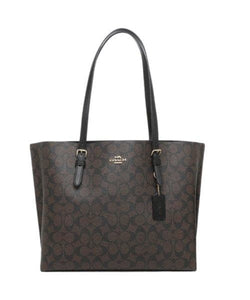 Coach Mollie Tote In Signature Canvas 1665 (IM/Brown Black)