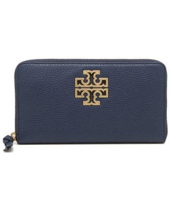 Tory Burch Britten Zip Continental 67299 Wallet In Royal Navy
