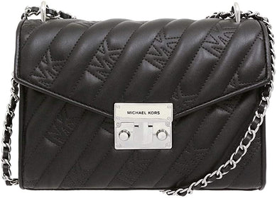 Michael Kors Medium Rose 35F0SXOL2U Flap Shoulder Bag In Black