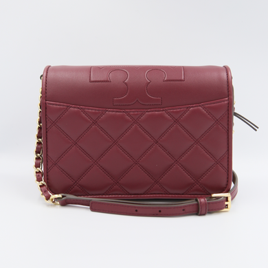 (AS IS) Tory Burch Alexa Combo 55042 Crossbody Bag In Imperial Garnet