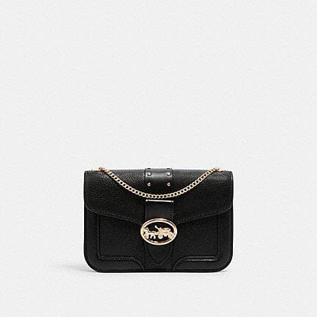 Coach Georgie 6925 Crossbody Bag With Rivets In Black