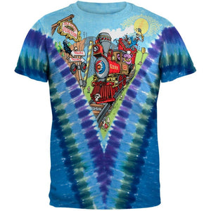 Liquid Blue Grateful Dead Casey Jones Tie-Dye T-Shirt