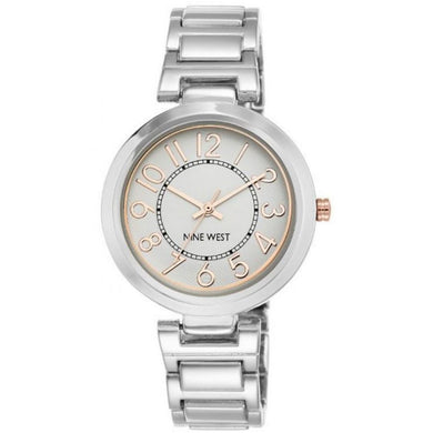Nine West Silver Tone Ladies Dress Watch NW-1893SVRT