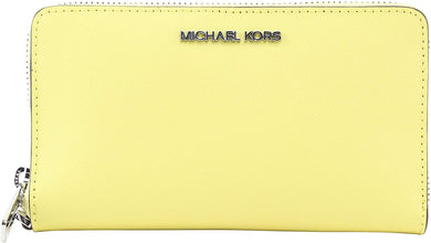 Michael Kors Jet Set Travel Medium Zip Phone Holder 35S0STVL2L In Sunshine