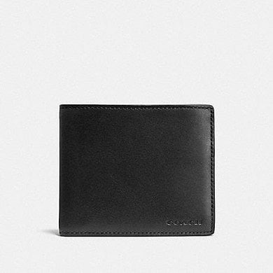 Coach Compact ID 74896 Wallet In Black