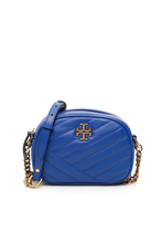 Load image into Gallery viewer, Tory Burch Kira Checron Small Camera Crossbody Bag In Nautical Blue