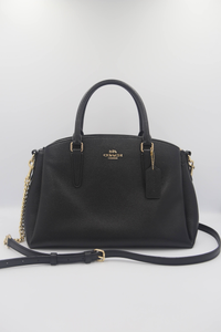(Preloved) Coach Sage F28695 Carryall Satchel Bag In Black