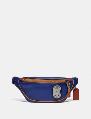 Coach Rivington Belt Bag 7 79045 With Reflective Coach Patch In Sport Blue Multi