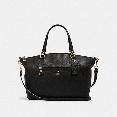 Coach Prairie Satchel 79997 In Black Leather With Gold Hardware
