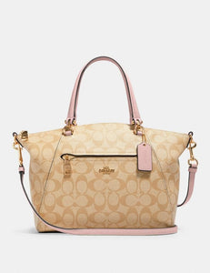 Coach  Signature Prairie Satchel Bag 79998 In Light Khaki Blossom