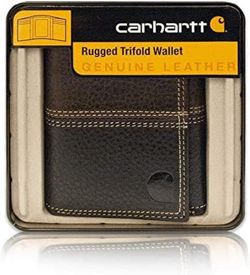 Carhatt Rugged Trifold Wallet In Pebble Brown