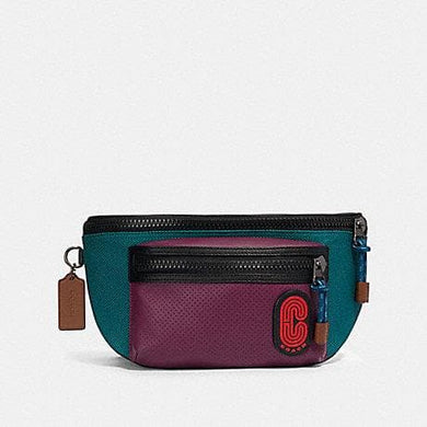 Coach Colorblock Terrain Belt Bag 89907 In Dark Sea Green Plum Multi
