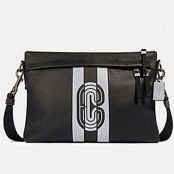 Coach Edge Messenger With Reflective Patch 89914 In Black