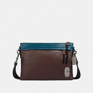 Coach Colorblock Edge 89916 Messenger Bag In Oxblood