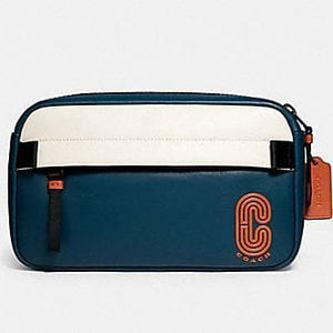 Coach Edge Belt Bag 89920 In Colorblock Aegean Orange Clay