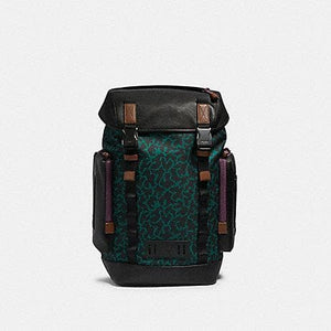 Coach X Disney Ranger Backpack With Animal Print 89929 In Dark Green Multi