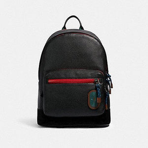Coach West Colorblock Backpack 89948 In Black