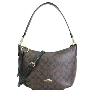 Coach Signature Small Skylar Hobo Shoulder Bag 90738 In Brown Black