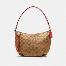 Load image into Gallery viewer, Coach Signature Small Skylar Hobo Shoulder Bag 90738 In Khaki Poppy