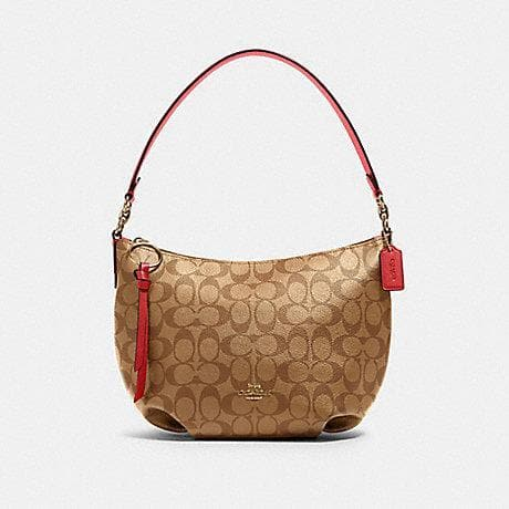 Coach Signature Small Skylar Hobo Shoulder Bag 90738 In Khaki Poppy