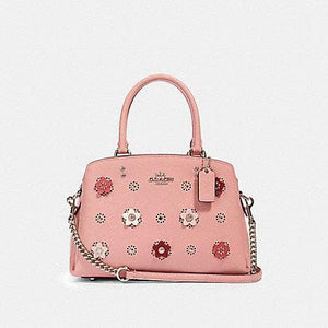 Coach Mini Lillie Carryall With Daisy Applique 91142 (IM/Light Blush Multi)