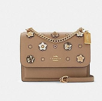 Coach Klare Crossbody Bag With Daisy Applique 91143 In Taupe Multi