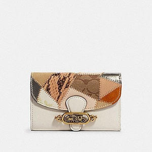 Coach Jade Medium Envelope Wallet 91193 With Patchwork In Chalk Multi