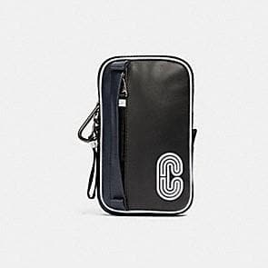 Coach NS Hybrid Pouch With Reflective Coach Patch 91253 In Midnight Navy